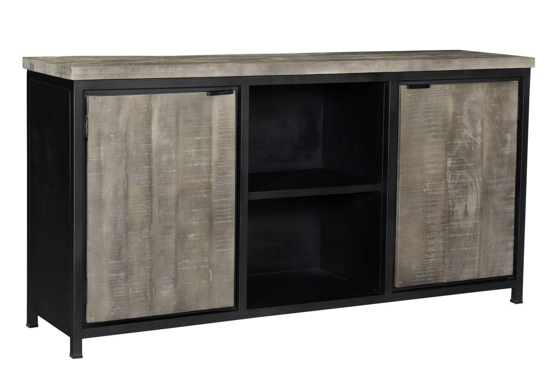 Mango dressoir grijs - 180 x 40 x 85 cm