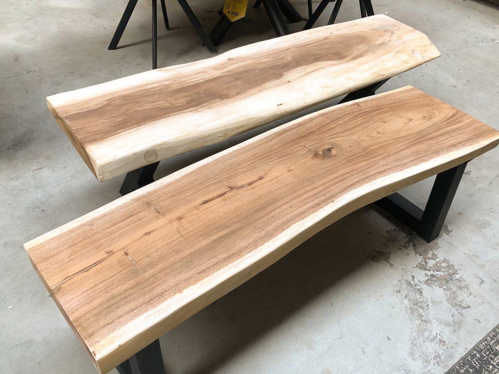 suar boomstambladen voor bankje/salontafel zijn verkrijgbaar in verschillende maten