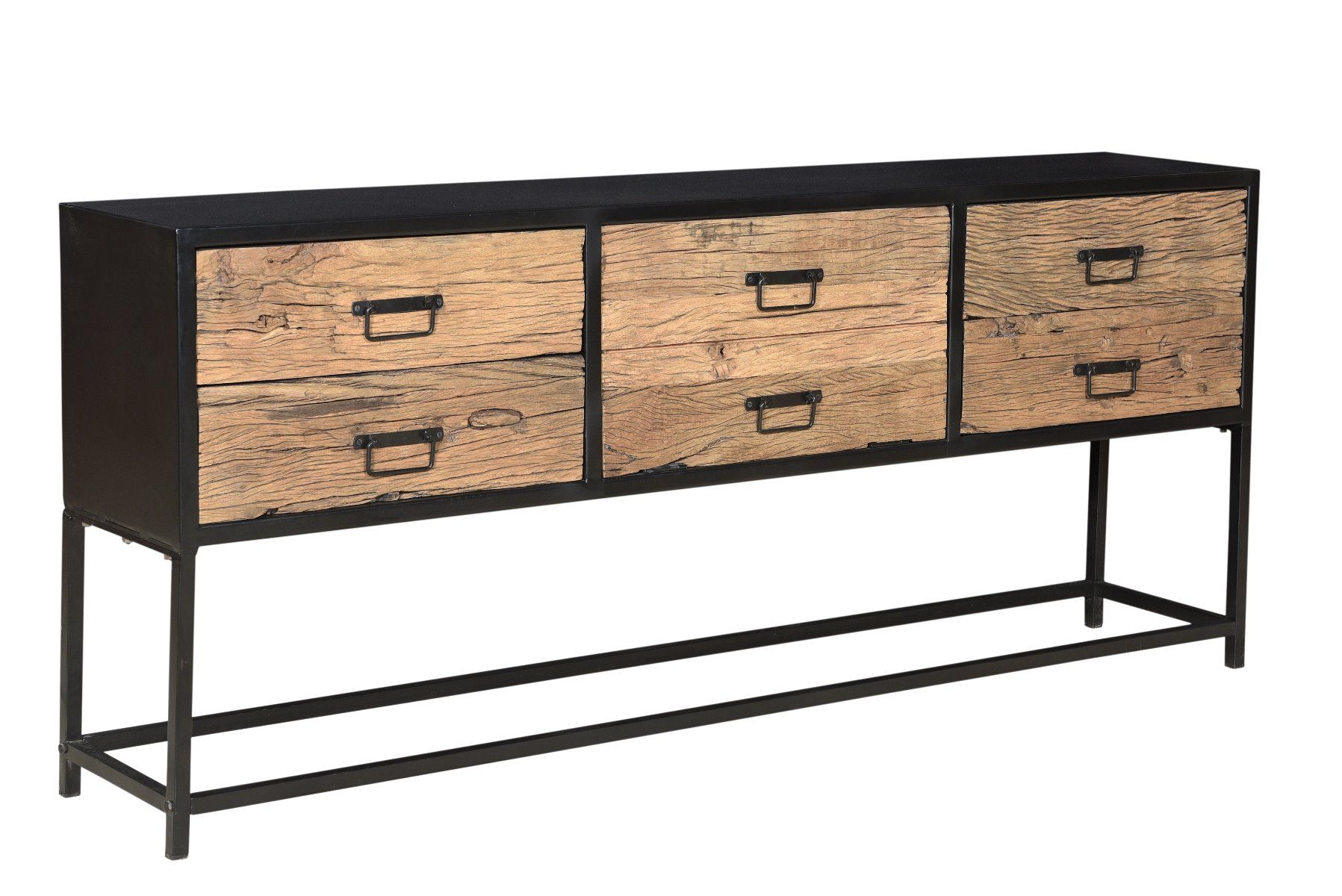 'Sleeper wood' Dressoir / tv-meubel - 200 x 35 x 83 cm